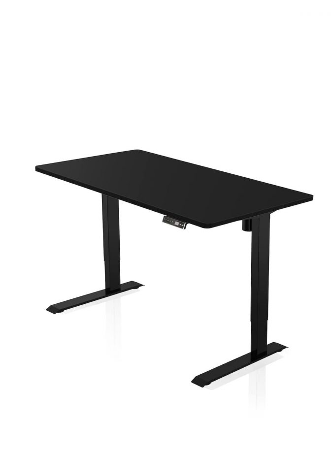 FITNEST_Sierra Starter_Desk_Black Frame_Black Table Top_nocentered_1