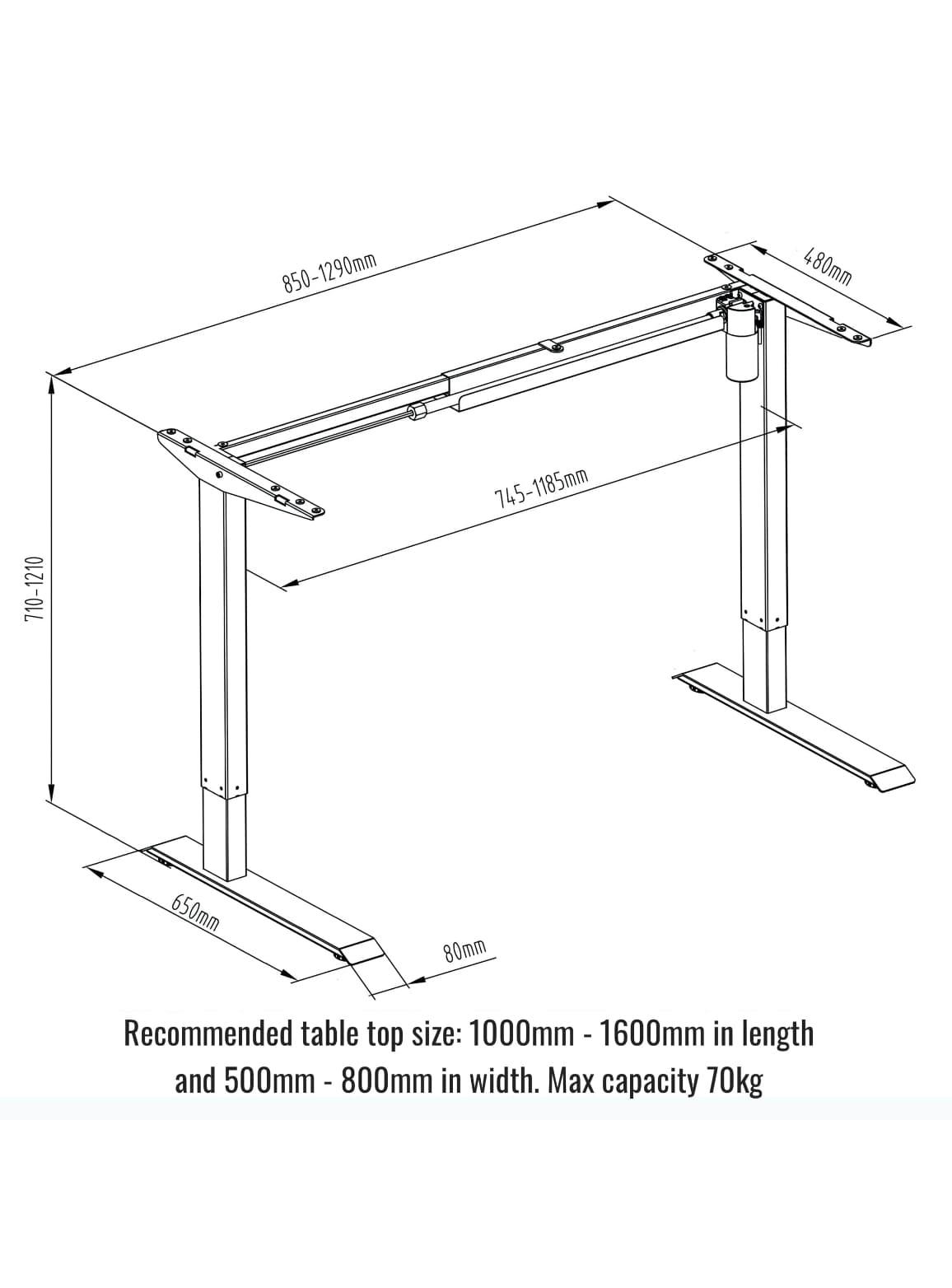 Picture of: Sierra Standing Desk Starter Electric Standing Desk Fitnest Europe Standing Desks