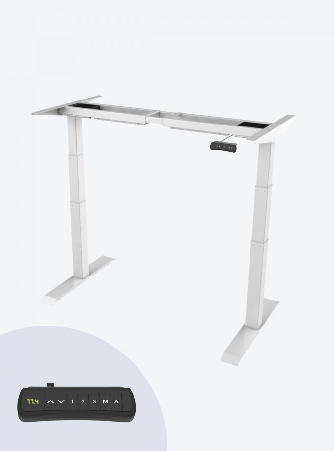 Fitnest Sierra Electric Standing Desk Pro Frame White