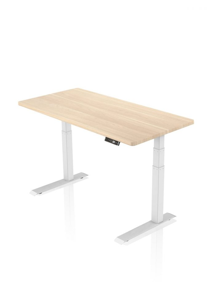 FITNEST_Sierra Pro_Desk_White Frame_Oak Table Top_nocentered_1