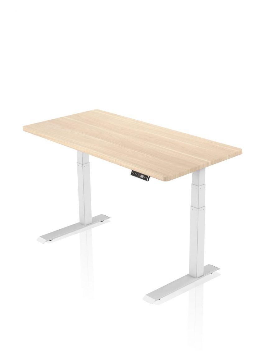 FITNEST_Sierra Pro_Desk_White Frame_Oak Table Top_nocentered_1