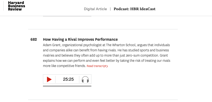 HBR IdeaCast screenshot