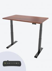 Fitnest Sierra Pro Standing Desk Mahogany Top Black Frame