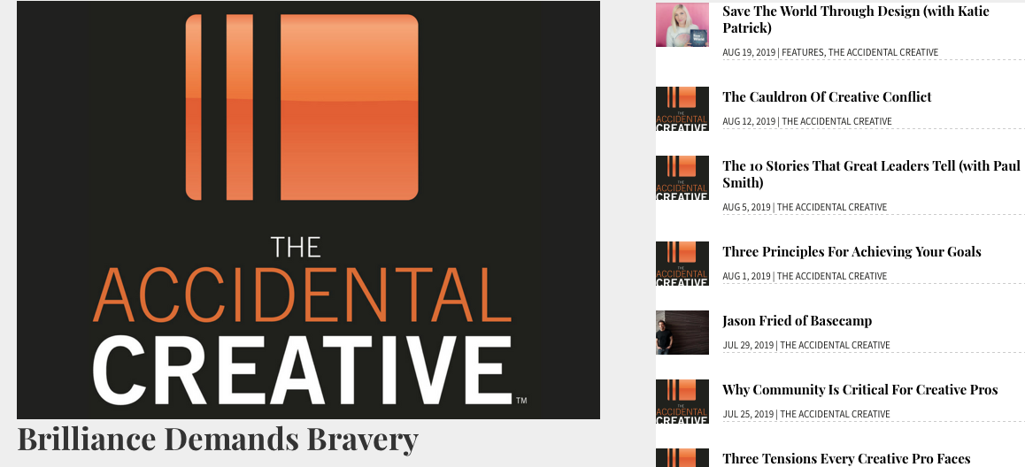 The Accidential Creative Podcast Screenshot