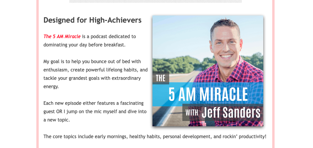 the 5 am miracle podcast screenshot best productivity podcasts
