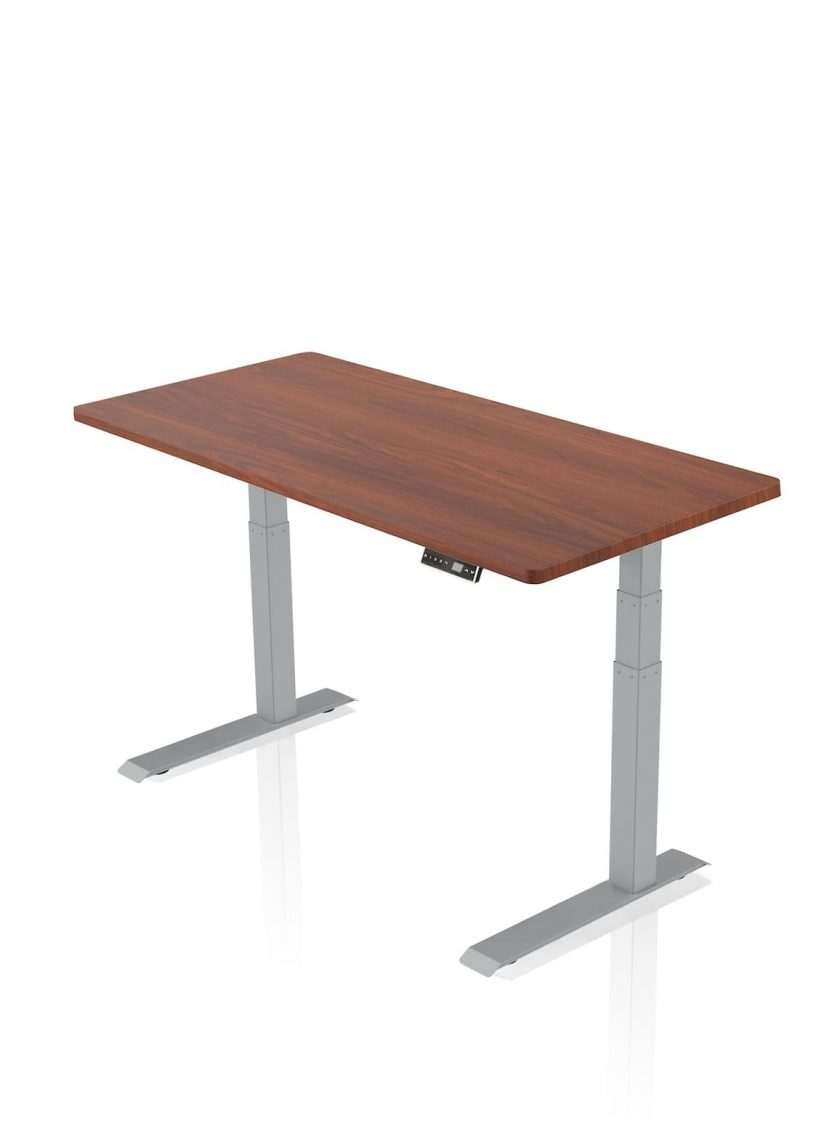 FITNEST_Sierra Pro_Desk_Gray Frame_Mahogany Table Top_nocentered_1
